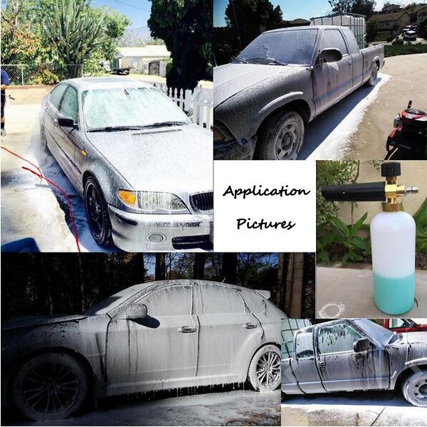 High pressure snow foam cannon gun car wash