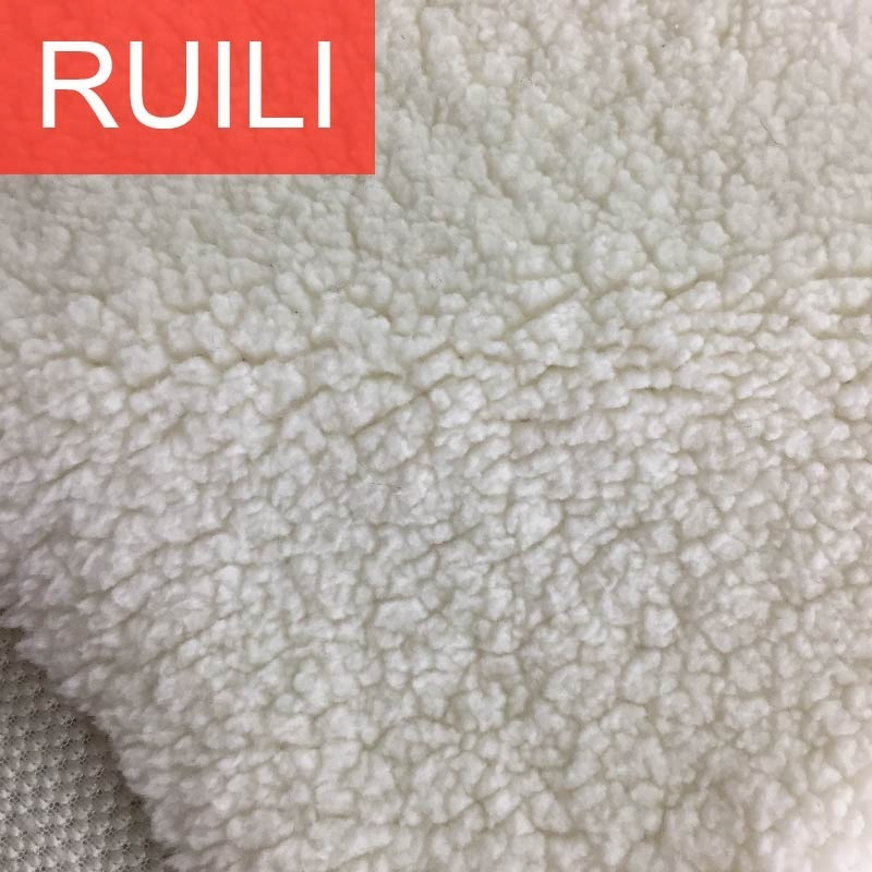 100% polyester knitted warm soft sherpa fleece lining fabric