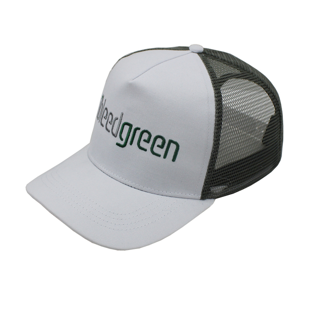 putih polos topi trucker. Custom Mesh 2D embroidery white Trucker Cap  Wholesale Plain Mesh Hat Manufacturer c8a7766703
