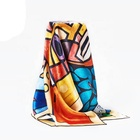 100% Digital Print Shawl Oversized Silk Scarf Fashionable