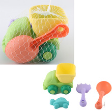 2017 new soft plastic colorful mini truck tools sets outdoor beach toys