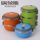 3 compartment stainless steel bento box tiffin box stainless steel food carrier for kids