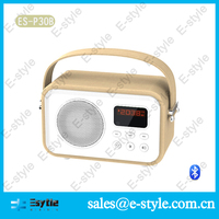 2014 new China Alibaba colorful leather cheap active subwoofer home with handle FM USB TF card and microphone
