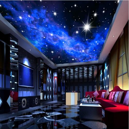 3d Wandmalereien Galaxy Fluoreszierende Foto Art Deco Bankett Halle Tapete Wandbild Buy Galaxy Tapete Bankett Halle Tapete Art Deco Tapete Product