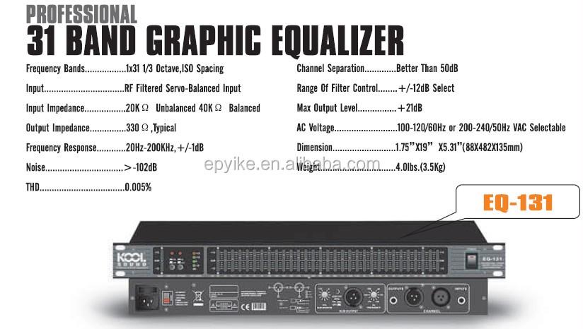 eq 131 professional sound system equalizer 31 band graphic equalizer buy equalizer. Black Bedroom Furniture Sets. Home Design Ideas