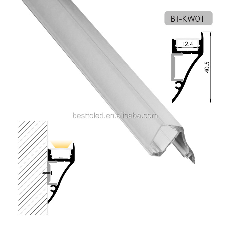 High quality wall surface mounted LED aluminium profile extrusion fresco light lamp
