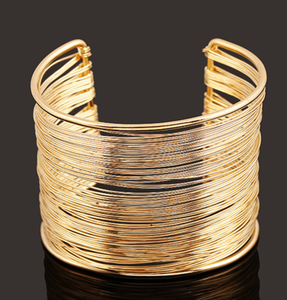 Quality Wide Wires Wrapped Cuff Bangles
