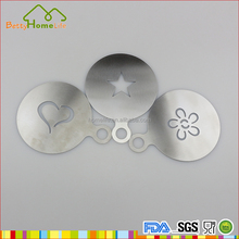 Stainless steel Accessories 3PCS Coffee Stencil Set