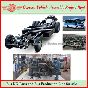 Hengtong City Bus Front Diesel Engine Chassis