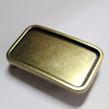 Manufacturer square western style classical solid brass buckle