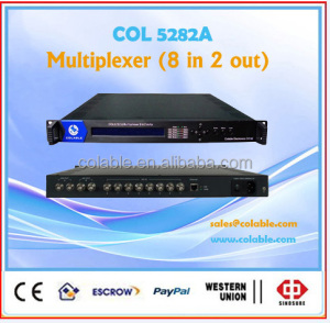 digital headend ts mulitplexer,support inserting CAS,EPG and other info.,digital tv broadcasting hendend system COL5282A