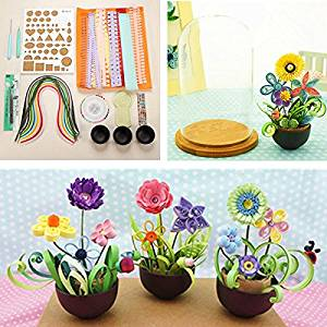 Cheap paper craft quilling find paper craft quilling deals on line get quotations new quilling paper flower pot plant color paper art potted craft tool set by ktoy mightylinksfo