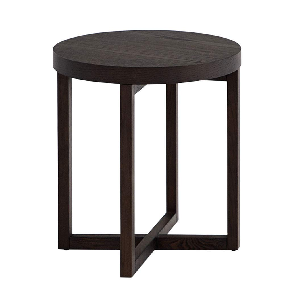 Coffee Tables Corner Several Solid Wood Small Dining Table Computer Table Side Table (Color : Black, Size : 484848cm)