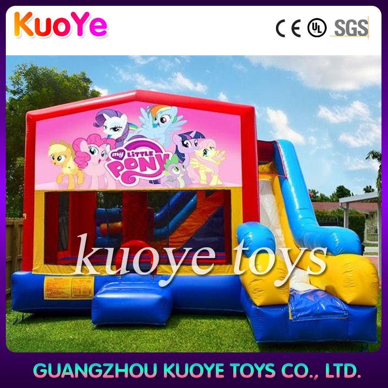 la casa del juego pequeño pony jardín inflable niños castillo