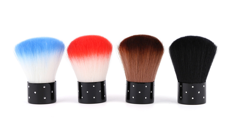 Colorful Soft Nail Dust Brushes Powder Brush Nail Arts Dust Cleaner Brush Make Up Brush