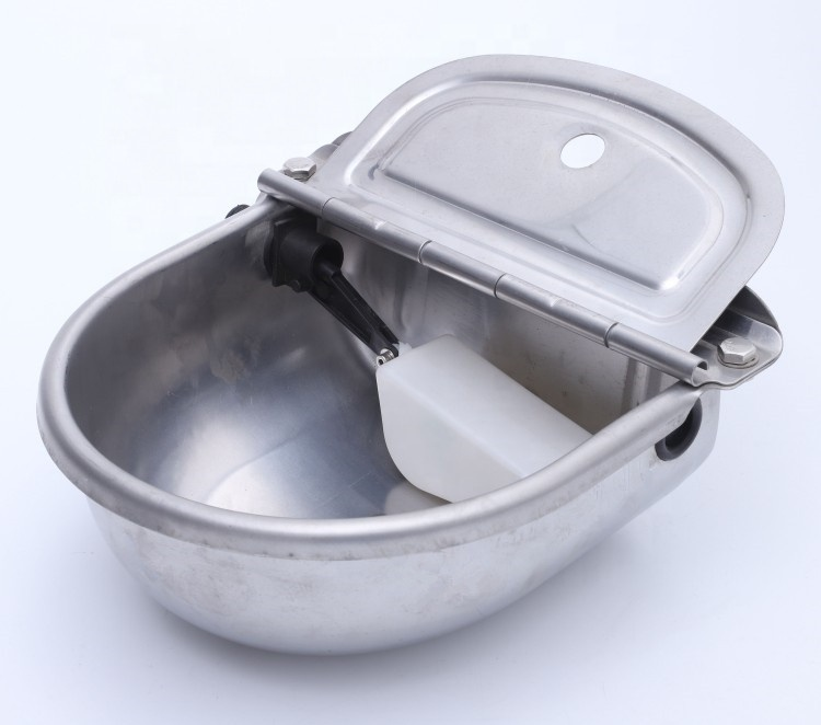 high quality food grade AISI 304 stainless steel animal drinking water bowl