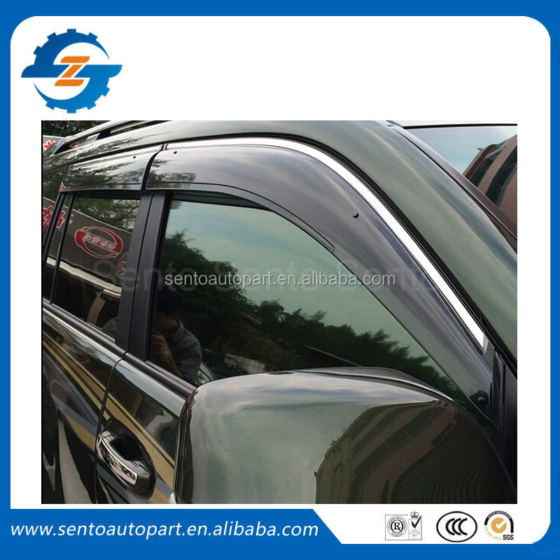Window Visor Vent Shade Rain Sun Wind Guard Window Deflectors Visor FIT FOR Prado FJ150 2010-2015
