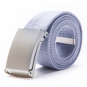Fashion Plain polyester Webbing Boy chastity belt with metal buckle,customized Casual mens Canvas Belts
