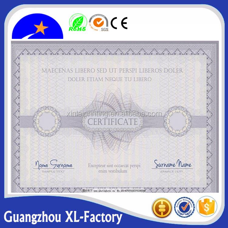 certificate paper 48 certificate of training award certificates