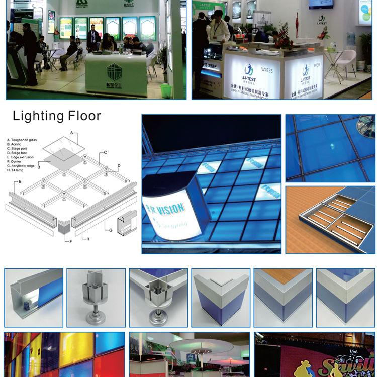 Decent Lighting Glass Floor System For Advertising Trade