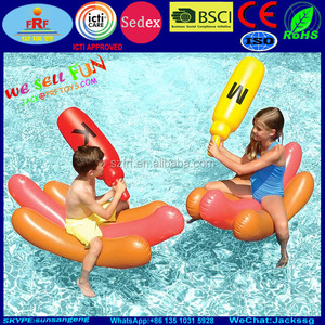 Inflatable Hot Dog Battle Pool Float
