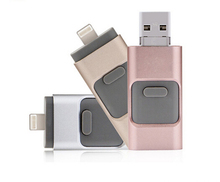3 in 1 OTG Usb flash drive for Iphone/Computer/Android with Customized Logo