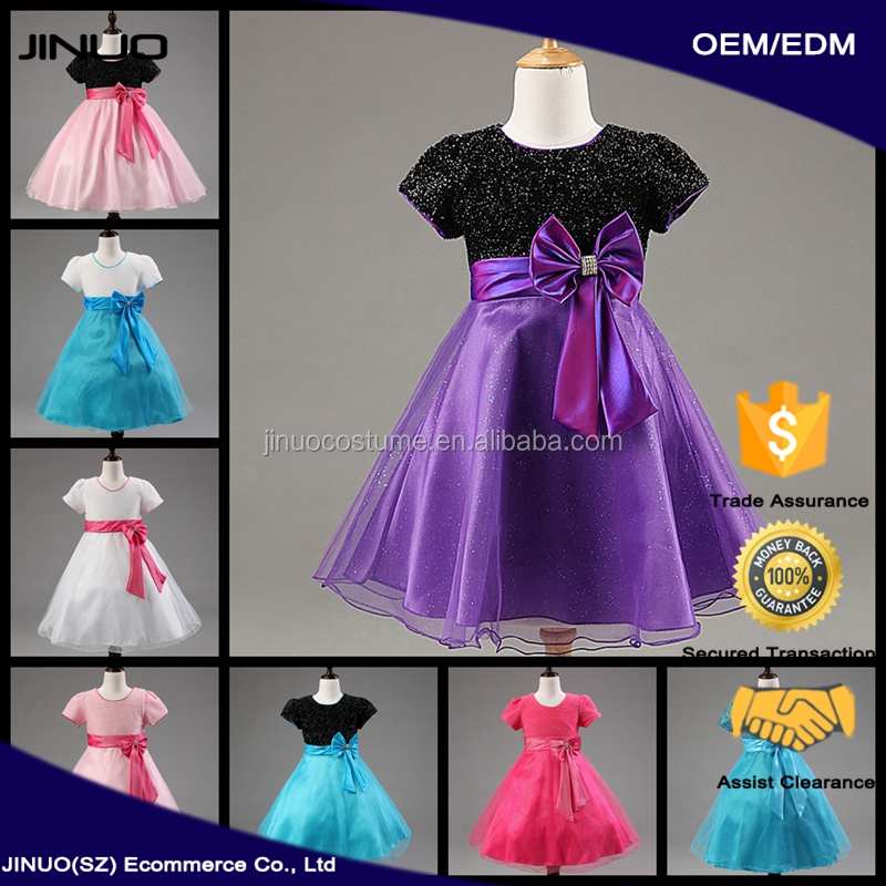 Hot Sale 2017 old english kids wedding 15 year old dresses on sale