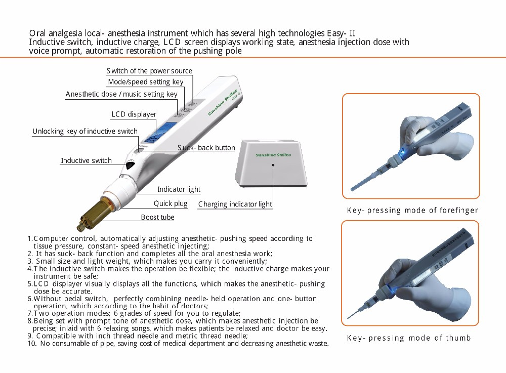 TR-LAI02 Dental professional painless oral local anesthesia device for dentist,Anesthesia Instrument