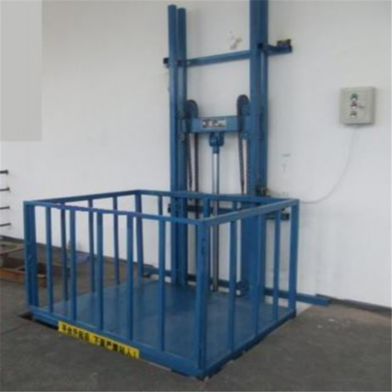 Single Guide Rail Cargo Elevator Vertical Material Lifts