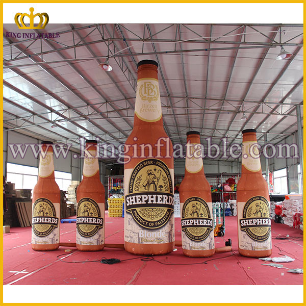 Good Quality Customized Giant Inflatable Bottle For Advertising