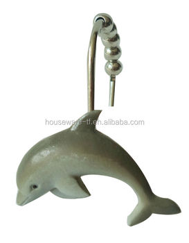 Unique Shower Curtain Rings Dolphin Hooks