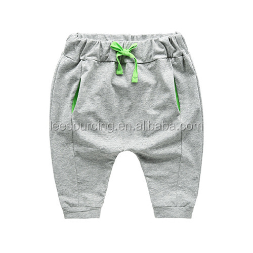 Wholesale baby boy Cotton pants toddler sports pants for summer
