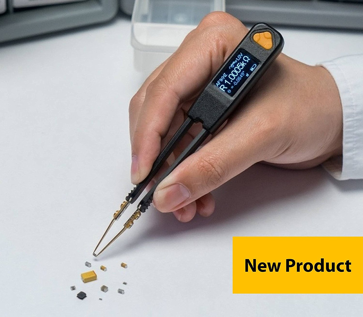LCR Research Pro1 with Link1 PC Connectivity and Ultra Precise Test Tips - LCR Meter / ESR Meter / Digital Multimeter / SMD Tester / Smart SMD Tweezers / In Circuit Debugger