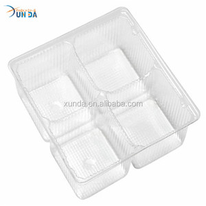 Transparent Dividers Plastic Food Tray Packing Insert for Food