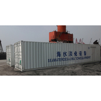 Containerized seawater desalination plant, container RO system for outdoor drinking water