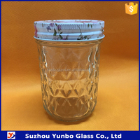 Jelly Jars, Ball Quilted Crystal Jelly Jars 8 oz For Sale