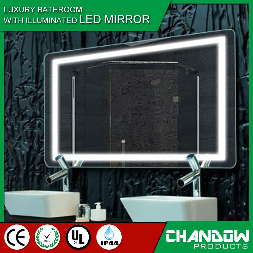 csj aluminio bao iluminado espejo de maquillaje iluminado