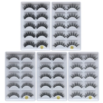 F810 F820 F830 F840 F850 factory wholesale price 5model 5pais Eye Lashes Natural false Eyelashes 5 pairs 3D mink eyelashes