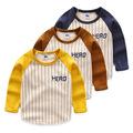 2016 New Next Spring Fall Boys Full Sleeve Kids Tees Cotton Comfortable Cartoon Brilliant Children sClothing