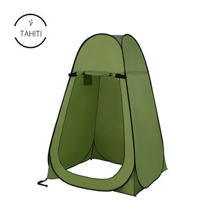 Large Space Camping Tent Beach Bath Dressing Toilet Tent Tabernacle Water Resistant Single Layer Tent