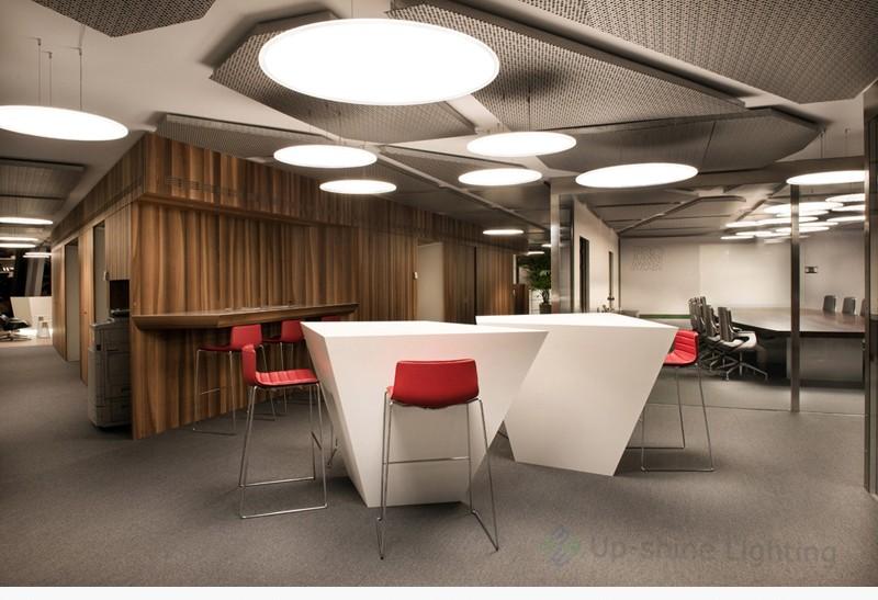 30w Big Round Pendant Led Panel Tuv Saa Modern Office Pendant