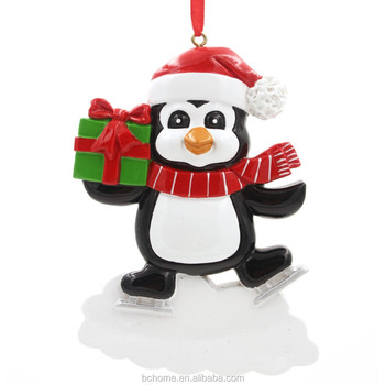 Personalized Ornaments Penguin Santa Claus Reindeer Black Bear Baby S First Christmas Designs For Christmas Tree Decoration Buy Christmas