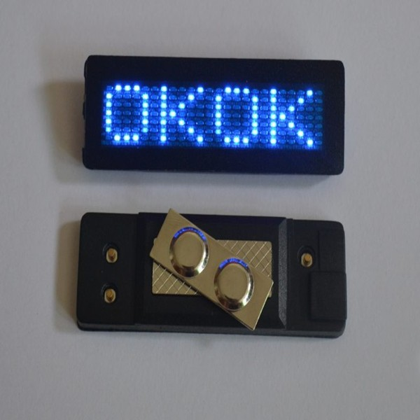 led name tag LED Name Badge Scrolling led display Digital badge digital Tag rechargeable badge Scrolling advertising White