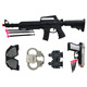 hot selling plastic police soft bullet toy gun set