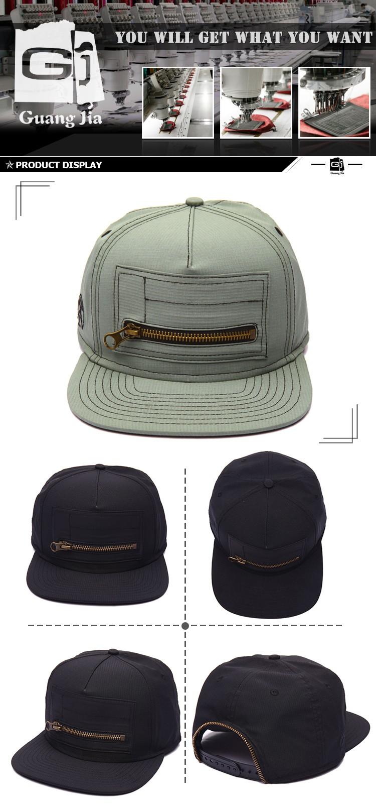 Kustom 5 Panel Camp Topi Bordir Grosir Murah Desain Snapback Sendiri Anda Dengan Zip