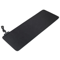 Non-slip natural rubber rgb gaming mousepad rgb light pad for keyboard mouse
