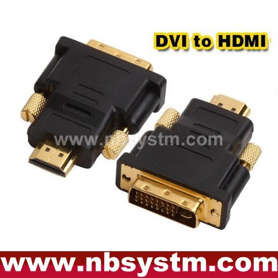 DVI (24+1) male to HDMI male adapter