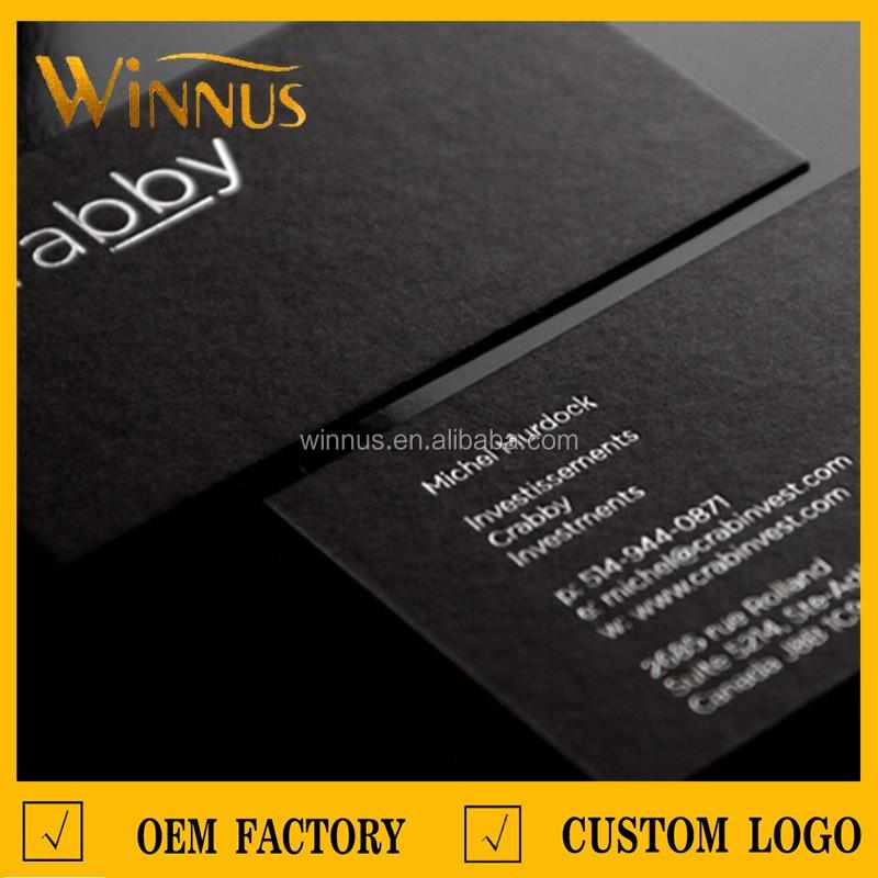 300g 350g 400g 500g 600g700g thick black business card gold foil ...