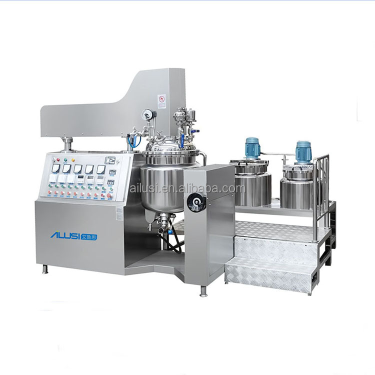 Mascara making machine, gel mixing machine, cream vacuum emulsifier mixer