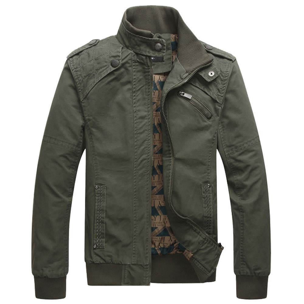 Mens Bomber Jacket,Casual Winter Tactical Outwear Stand Neck Military Jackets Sweatshirts Zulmaliu